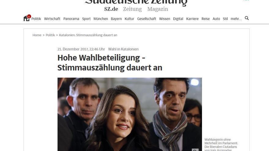 Portada del Suddeutsche Zeitung