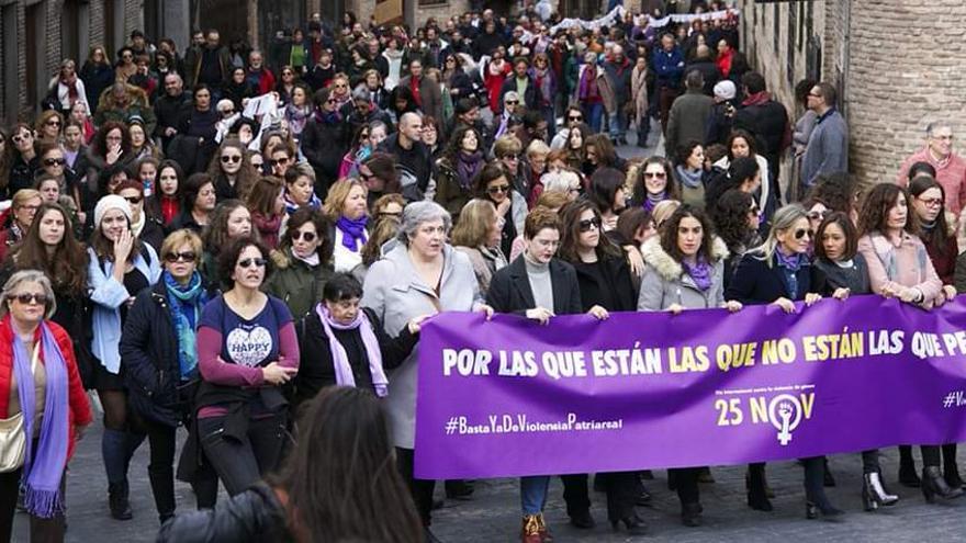Manifestación contra la violencia de género en Toledo
