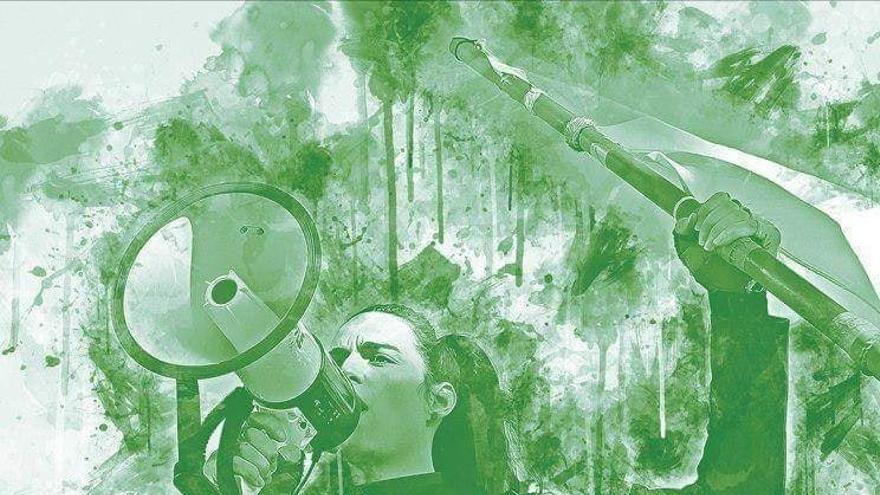 Imagen del cartel de la convocatoria de la manifestación para este 28 de febrero