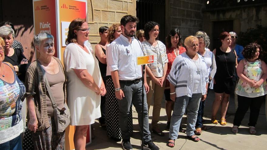 """Rufián a Homs: """"ERC solo tiene una agenda y es la república catalana"""""""