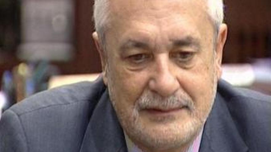 El presidente de Andalucía, José Antonio Griñán