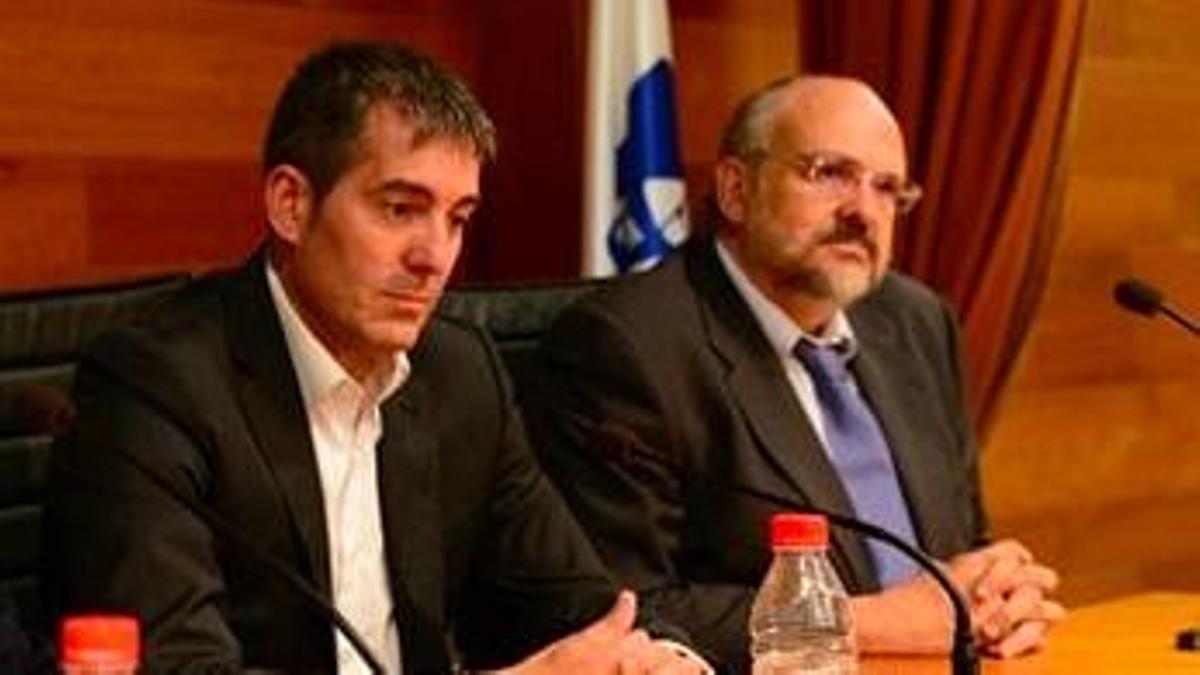 Fernando Clavijo y Francisco Pomares, en 2015