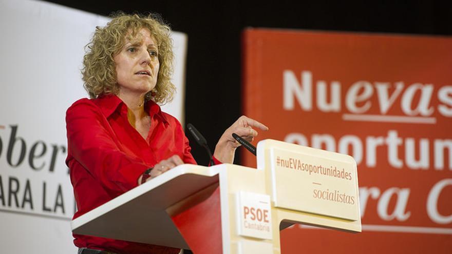 Eva Díaz Tezanos durante un acto de campaña.