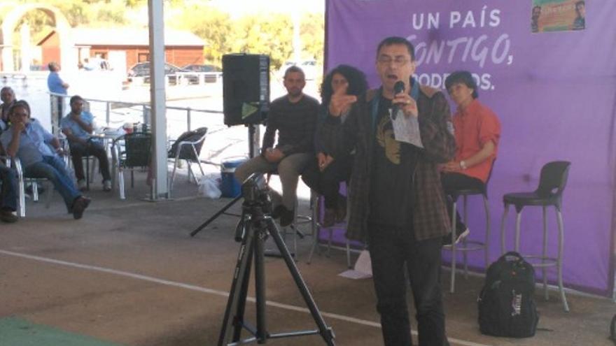 Monedero, en Orellana / Twiter @Podemos_EXT