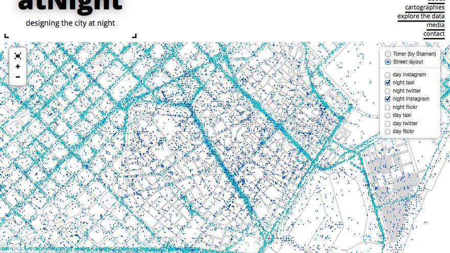 Barcelona por la noche según los datos