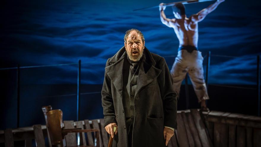José María Pou, durante la recreación de 'Moby Dick'
