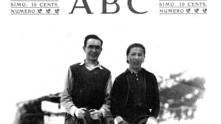 Moles junto a su marido en la portada del diario ABC del 16 de enero de 1934