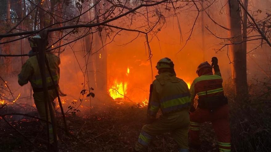 Suben esta tarde a 14 los incendios forestales tras un aluvión de focos desde el mediodía