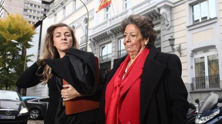 La senadora Rita Barberà sale del Tribunal Supremo tras prestar declaración
