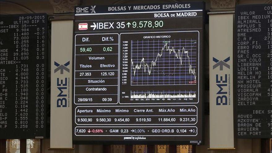 La bolsa española abre en rojo y el IBEX cae un 1,23 por ciento y roza mínimos anuales