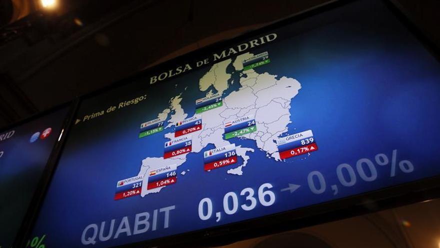 La prima de riesgo española baja a 144 puntos por la subida del bono alemán