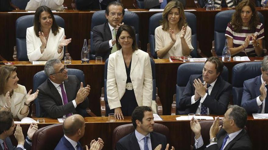 Paloma Adrados, cuando fue elegida presidenta de la Asamblea de Madrid
