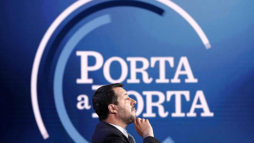 El viceprimer ministro y ministro del Interior italiano, Matteo Salvini,