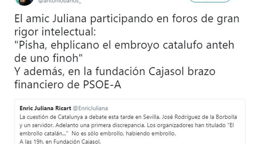 Tuit de Antonio Baños
