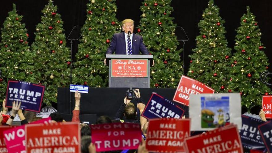 Trump celebra el resultado del recuento en Wisconsin y escenifica la paz con Ryan