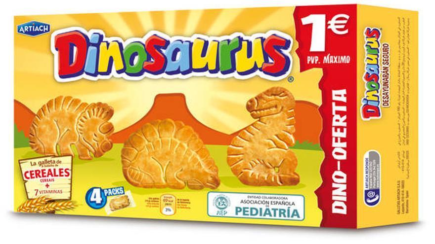 Paquete de galletas Dinosaurus, de Artiach
