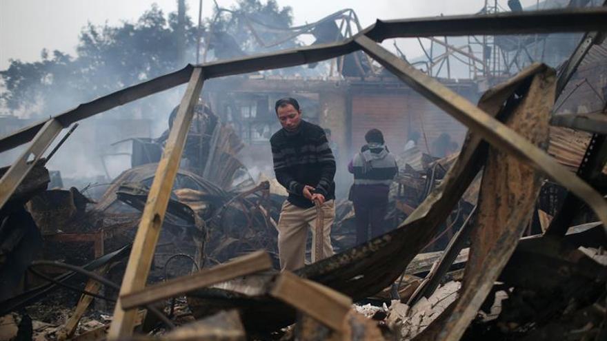 Un incendio deja cientos de damnificados en la comunidad amazónica asentada en Lima
