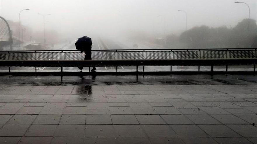 Fuertes lluvias en Santa Cruz de Tenerife
