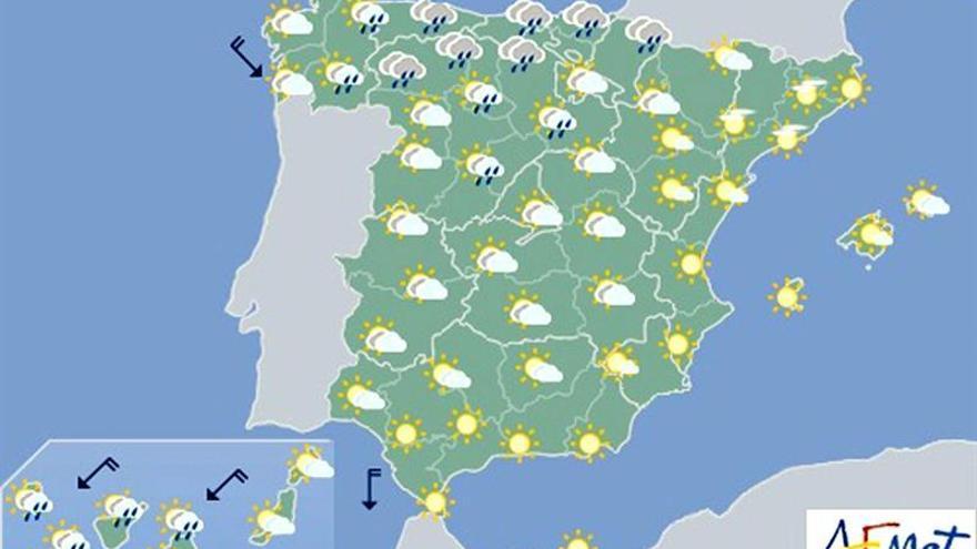 Hoy, descenso notable de temperaturas en Galicia, Cantábrico y alto Ebro