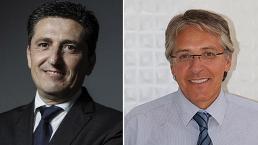 Los abogados Martín Orozco (izq) y Carlos Cabrera.