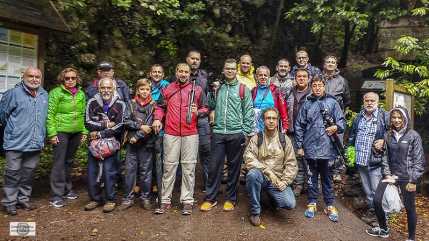 Grupo que participó en la 'KKD de Setas'  en Los Tilos organizada por Afoto La Palma. Foto: José F. Arozena.