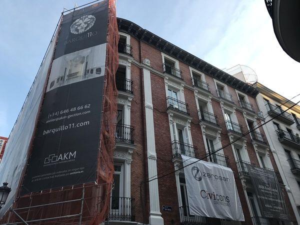 Edificio Barquillo 11 en obras | Fotografía: Somos Chueca