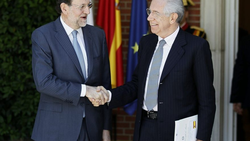 Rajoy aborda mañana en Roma con Monti la evolución de la eurozona