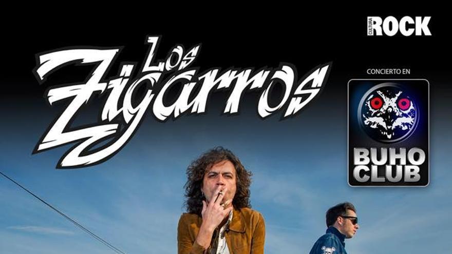 Cartel que anuncia el concierto en el Búho Club, en La Laguna