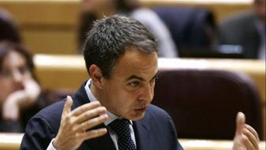 José Luis Rodríguez Zapatero en el Senado