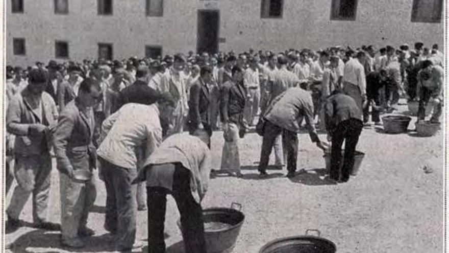 Presos en Gando durante el franquismo.