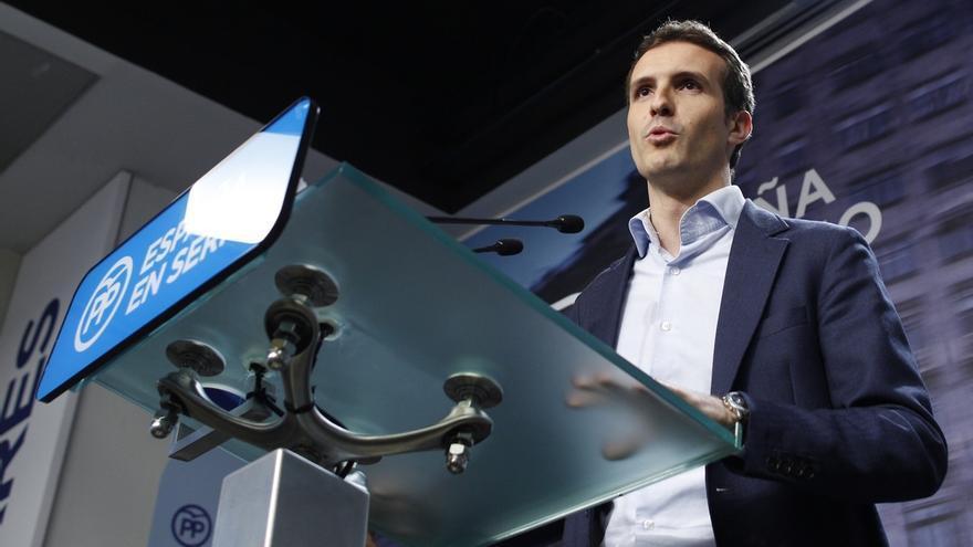 """Casado recalca que el PP sigue siendo la fuerza """"preferida"""" de los españoles tras una legislatura """"muy difícil"""""""