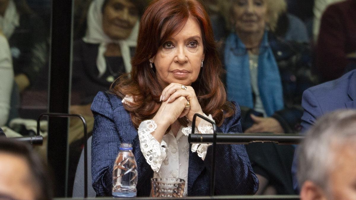 La vicepresidenta, en mayo de 2019, durante la primera audiencia por el juicio oral de Vialidad.