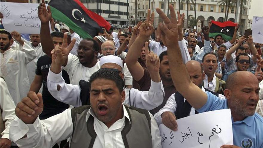 El Estado Mayor de Libia considera ilegítimas las tropas rebeldes leales a Hafter