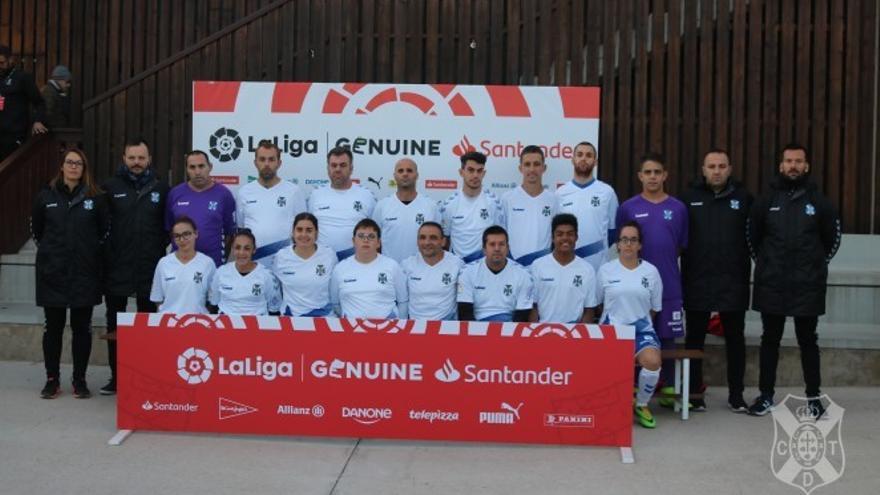 Integrantes del CD Tenerife EDI que tomó parte este pasado fin de semana de la primera concentración de LaLiga Genuine.