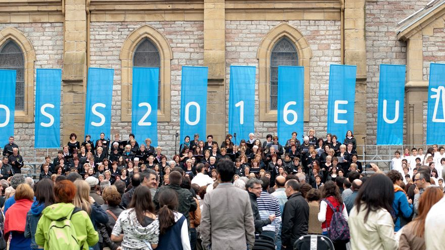 Celebración de un acto dentro de las actividades de Donostia 2016.