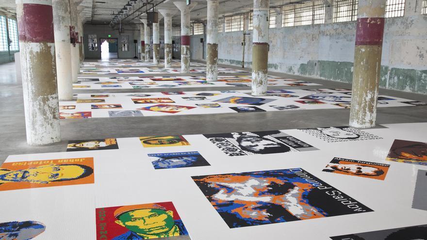Instalación del proyecto Trace, en Alcatraz © Jan Stürmann, courtesy FOR-SITE Foundation