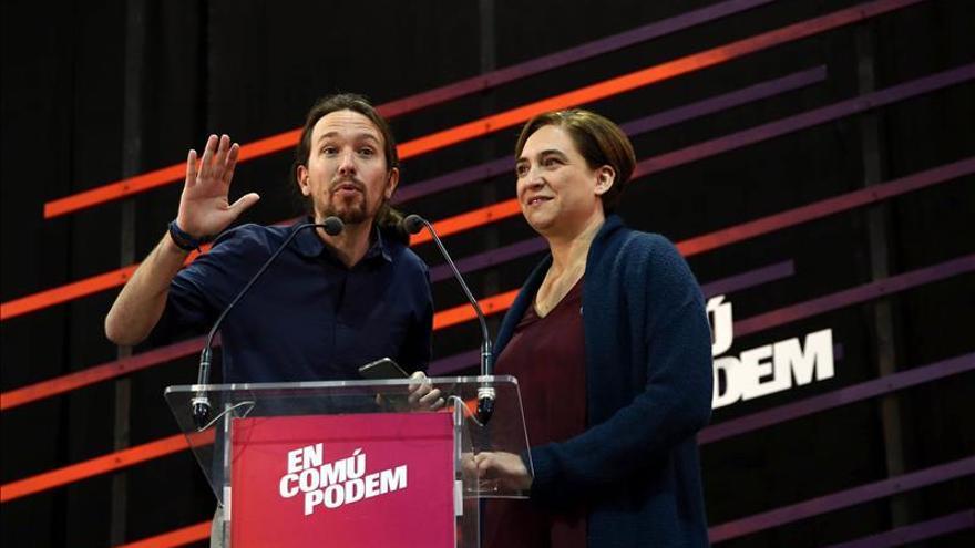 Iglesias y Colau llaman a mostrar a Madrid que pueden ganar y gobernar mejor