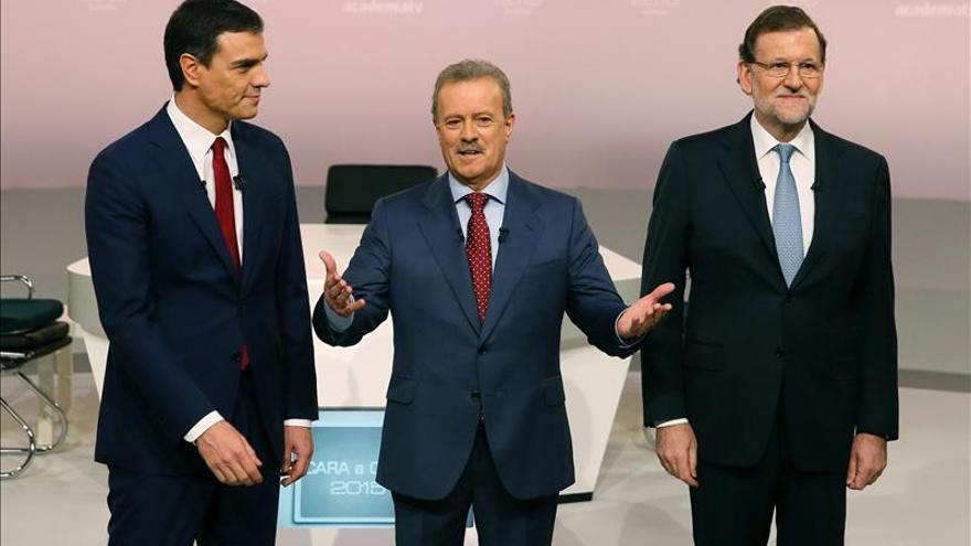 El debate Rajoy-Sánchez fue visto por 9,6 millones, un 48,6 % de la audiencia