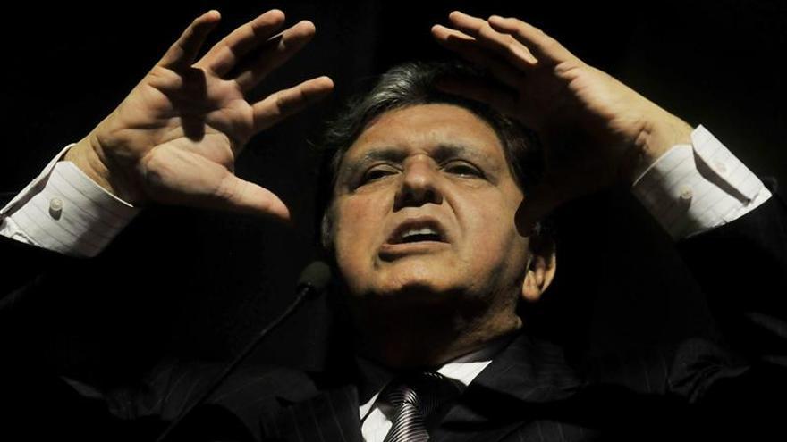En la imagen, el expresidente de Perú Alan García.
