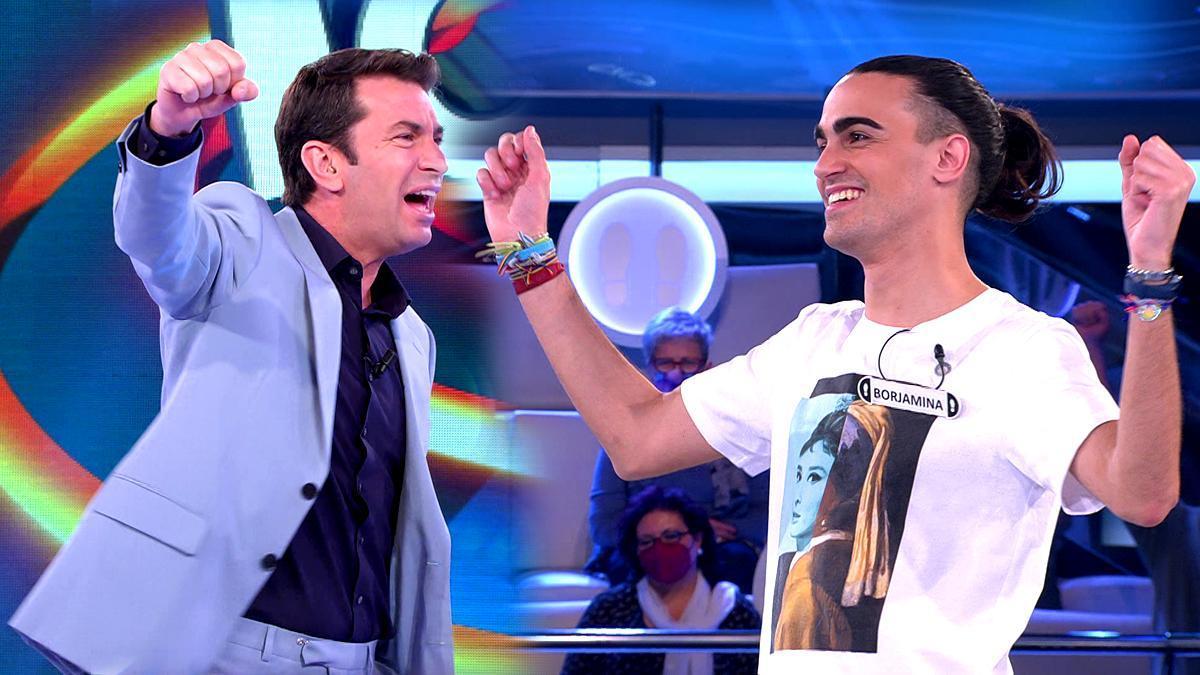 Arturo Valls y el concursante Borja, protagonistas del nuevo '¡Ahora caigo!'