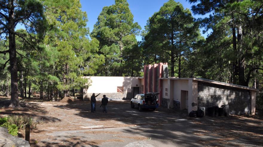 Instalaciones del Campamento de Tamadaba, en Agaete. (Ángel Sarmiento)