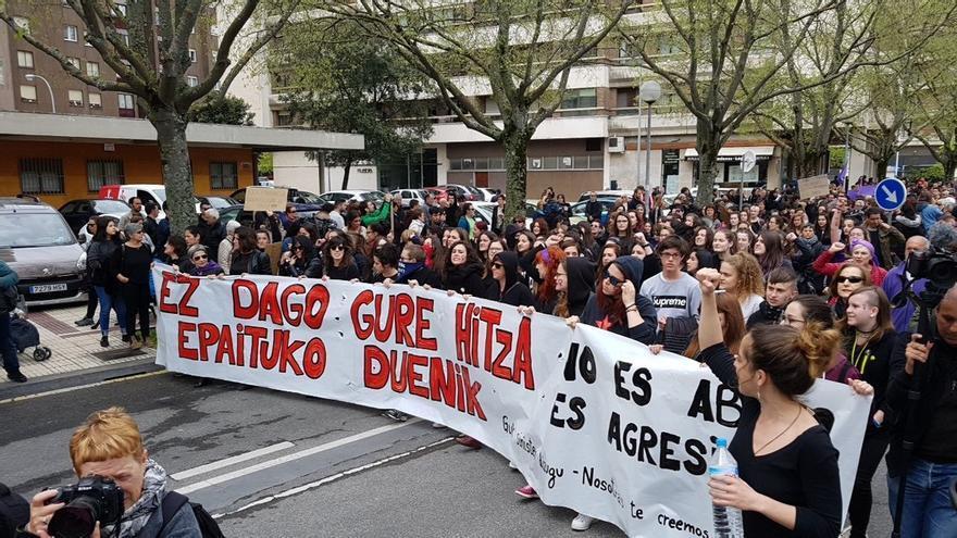 Nueva concentración en Pamplona contra la sentencia a 'la manada'