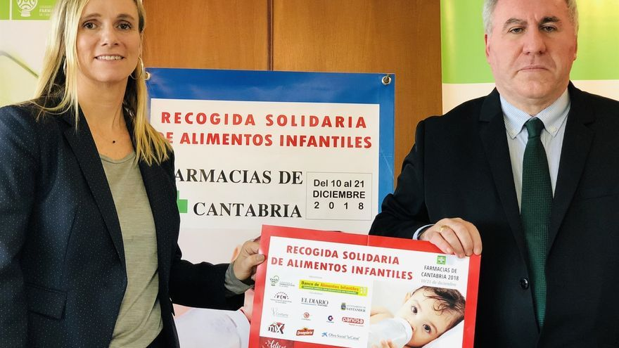 Las farmacias de Cantabria participan en una campaña de recogida de alimentos infantiles