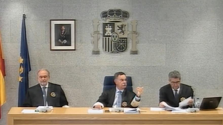 El magistrado Ángel Hurtado, durante la declaración de Rajoy