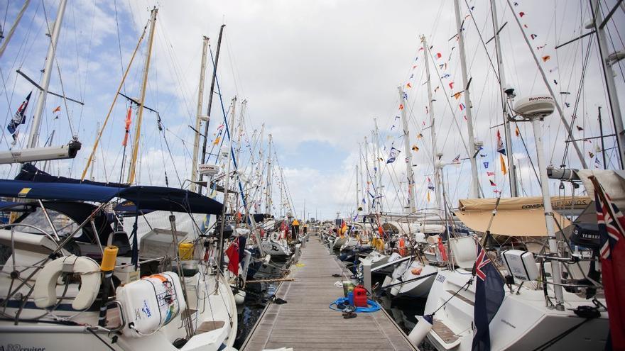 El Muelle Deportivo de Las Palmas de Gran Canaria con los barcos de la ARC.