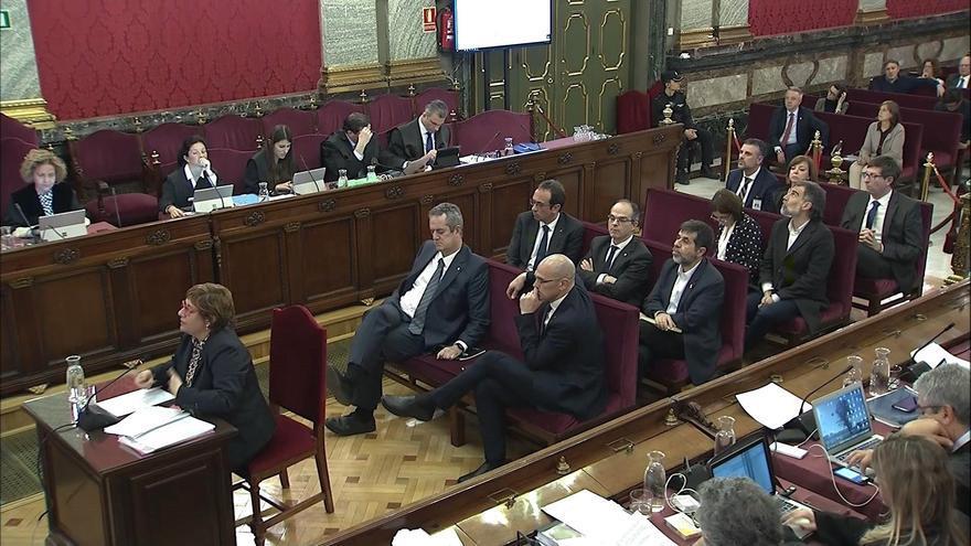 Vista general de la sala del Supremo en la declaración de la exconsellera de Trabajo, Asuntos Sociales y Familia Dolors Bassa