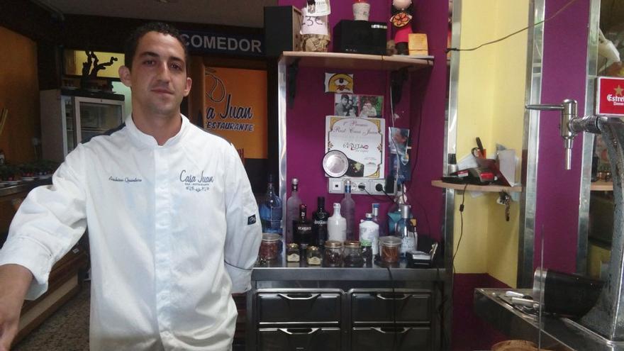 El cocinero, Arabisén Quintero. (Romina Cabeza Izquierdo).