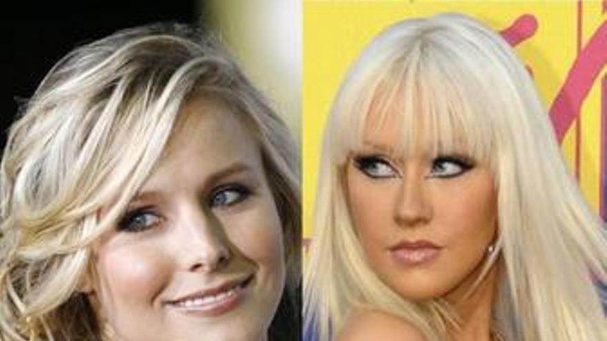 Kristen Bell y Christina Aguilera
