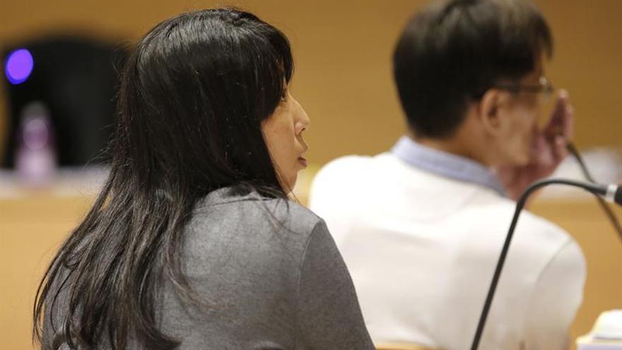 La acusada, durante el juicio