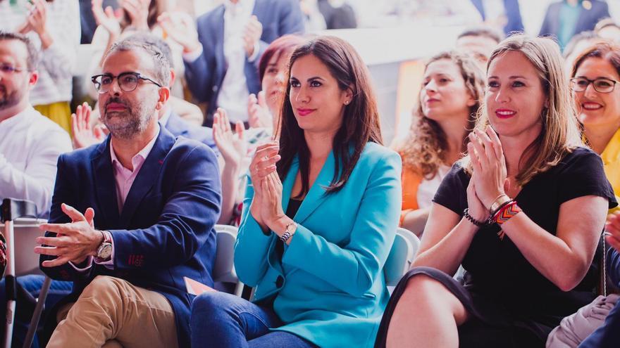 Vidina Espino, junto a Mariano Cejas y Melisa Rodríguez